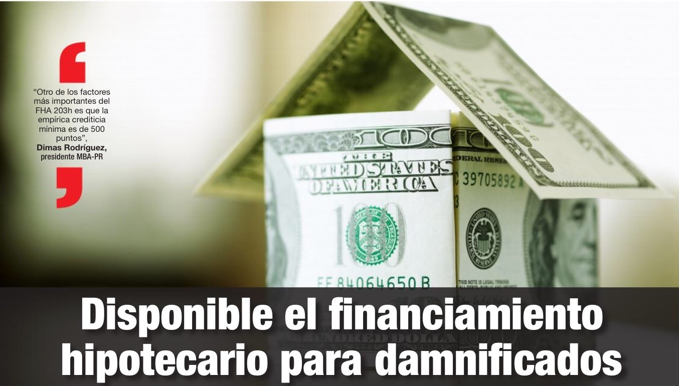 Disponible el financiamiento hipotecario para damnificados