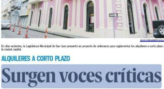 Alquileres a Corto Plaza, Surgen voces críticas