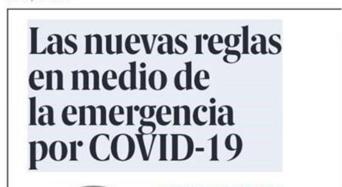 Las nuevas reglas en medio de la emergencia por COVID-19