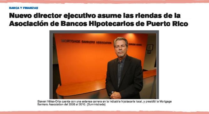 Nuevo director ejecutivo asume las riendas de la Asociación de Bancos Hipotecarios de Puerto Rico