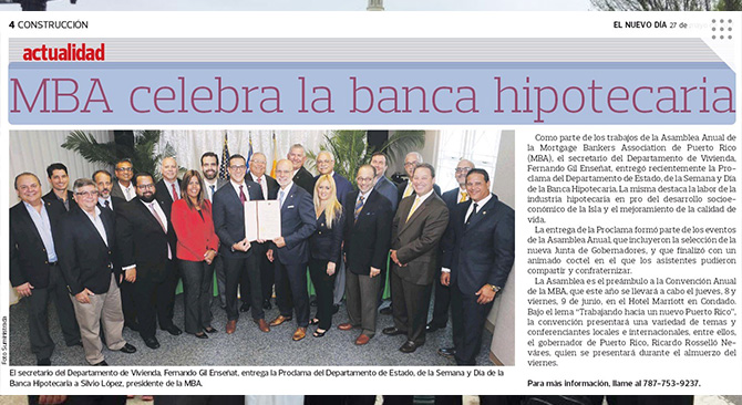 MBA celebra el día de la banca hipotecaria