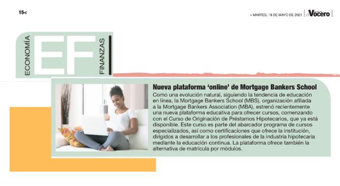 Nueva plataforma online de Mortgage Bankers School