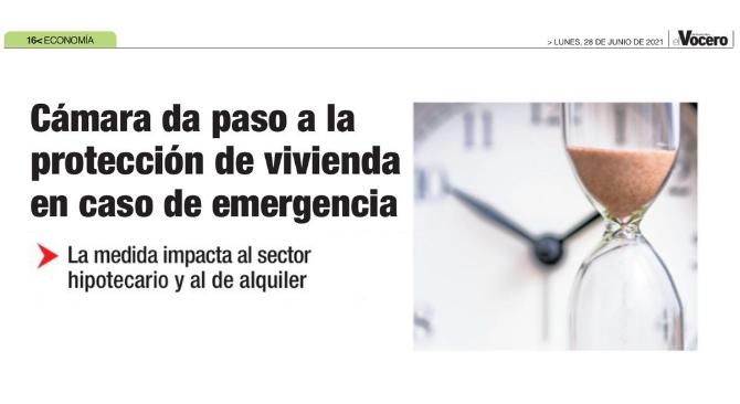 Cámara da paso a la protección de vivienda en caso de emergencia